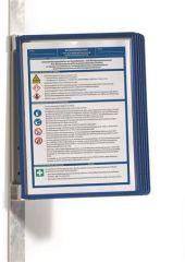Prezentační kapsa VARIO® 5 MAGNETIC, tmavě modrá, magnetická, nástěnná, 5 kapes, DURABLE