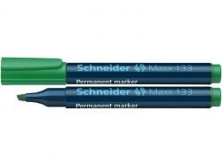 Permanentní popisovač Maxx 133, zelená, 1-4mm, klínový hrot, SCHNEIDER