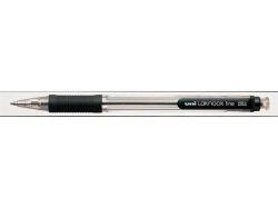 Kuličkové pero SN-101 Laknock Fine, černá, 0,4mm, stiskací mechanismus, UNI
