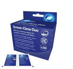 Čistící ubrousky na obrazovky, 20ks vlhké/suché, AF Screen-Clene Duo ,balení 20 ks