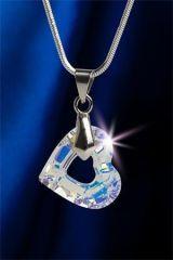 Náhrdelník s krystaly SWAROVSKI®, tvar srdce, 17 mm, ART CRYSTELLA