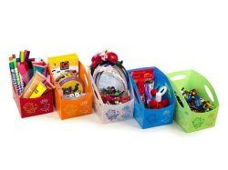 Dětský úložný box S, malý, červená, PRIMOBAL