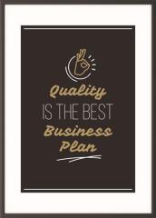 Motivační obraz Quality is the best business plan, A4, černý rám, PAPERFLOW