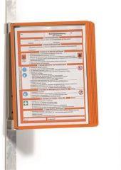 Prezentační kapsa VARIO® 5 MAGNETIC, oranžová, magnetická, nástěnná, 5 kapes, DURABLE