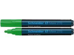 Permanentní lakový popisovač Maxx 270, zelená, 1-3mm, SCHNEIDER