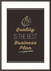 Motivační obraz Quality is the best business plan, A3, černý rám, PAPERFLOW