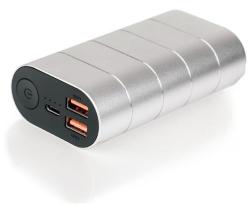 Powerbanka Dual, metalická šedá, 10 000mAh, 2 db USB 3.0 + USB-C, QC/PD, VERBATIM