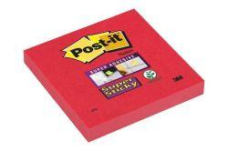 Samolepicí bloček, Super sticky, červená, 76x127 mm, 90 listů, 3M POSTIT ,balení 90 ks