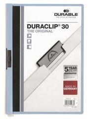 Desky s rychlovazačem DURACLIP® 30, modrá, s klipem, A4, DURABLE