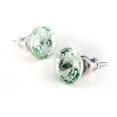 Náušnice SWAROVSKI® Crystals, zelené jablko, 8 mm, ART CRYSTELA