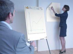 Samolepicí blok Post-it Meeting chart, bílá, 63,5x77,5cm, 3M POSTIT ,balení 30 ks