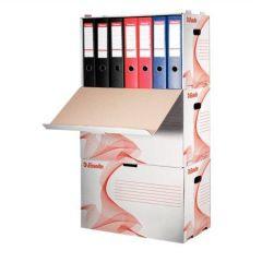 Archivační kontejner na pořadače Standard, bílá, s předním otevíráním, karton, ESSELTE
