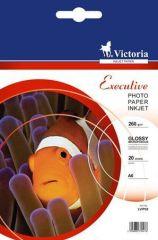 Fotografický papír Executive, do inkoustové tiskárny, vysoce lesklý, 10x15cm, 260g, VICTORIA ,balení 20 ks