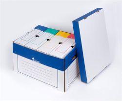 Archivační kontejner, modro-bílý, 320x460x270 mm, VICTORIA ,balení 2 ks