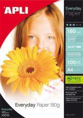 Fotografický papír Everyday, do inkoustové tiskárny, lesklý, A4, 180g, APLI