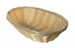 Košík na chléb, umělý ratan, oválný, 23 cm