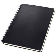 Spirálový blok Conceptum, exkluzivní, černá, A4, čtverečkovaný, 80 listů, SIGEL