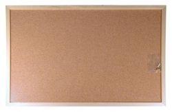 Korková tabule, oboustranná, 40x60cm, dřevěný rám, VICTORIA