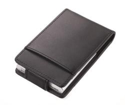 Pouzdro na kreditní karty, černá, kůže, pro 10 ks, s RFID čipy, TROIKA