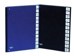 Třídící kniha, tmavě modrá, koženka, A4, 1-31, DONAU