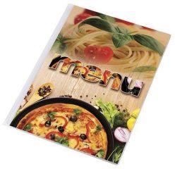 Desky na jídelní lístek Pizza, motiv pizza-těstoviny, A4, PANTA PLAST
