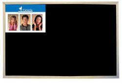 Černá tabule, nemagnetická, dřevěný rám, 30x40cm, VICTORIA