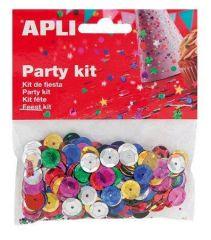 Konfety, flitry, 11 mm, APLI, různé barvy