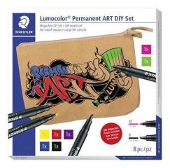 Kreativní sada Lumocolor Permanent ART, pouzdro, STAEDTLER 31 SET