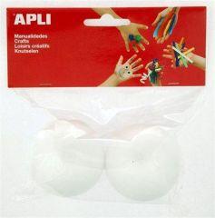 Polystyrenové koule, 60 mm, APLI Crerative ,balení 2 ks