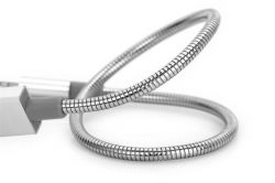 USB kabel, stříbrná, micro USB, 30 cm, VERBATIM