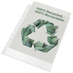 Euroobaly Recycled, čirá, A4, 70 mikronů, pomerančový povrch, ESSELTE  ,balení 100 ks
