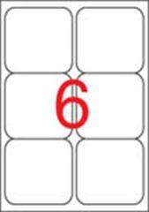Etiketa, ILC, 99,1x93,1 mm, zaoblené rohy, 600ks/bal., APLI ,balení 100 ks