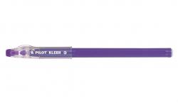 Kuličkové pero Kleer, fialová, 0,35mm, uzavíratelné, čiré, vymazatelné, PILOT