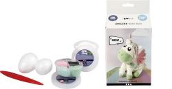 Kreativní sada Unicorn baby Bibi, zelená, CREOTIME