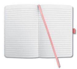 Zápisník Jolie, lososová růžová, exkluzivní, 95x150 mm, linkovaný, 174 listů, pevná vazba, SIGEL