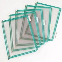 Prezentační kapsa, zelená, A3, na výšku, ot.z boku, PP, TARIFOLD ,balení 10 ks