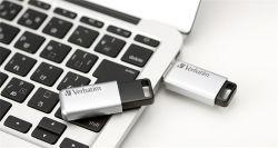 16GB USB Flash disk Secure Pro, USB 3.0, 100/20MB/sec, GDPR, VERBATIM, stříbrný