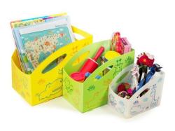 Dětský úložný box M, střední, zelená, PRIMOBAL