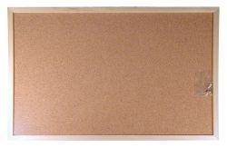 Korková tabule, oboustranná, 30x40cm, dřevěný rám, VICTORIA