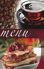 Desky na jídelní lístek Coffee, motiv káva/ čaj/ zákusek, A5, PANTA PLAST