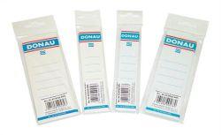 Štítek pro pákové pořadače, bílý, samolepící, 54x153 mm, DONAU ,balení 20 ks