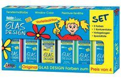 Základní sada barev na sklo Window Color, Hobby Line, KREUL