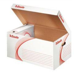 Archivační kontejner Standard, bílá, s víkem, karton, ESSELTE