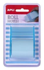 Samolepicí bloček s dávkovačem, pastelová modrá, 8 m x 5 cm, role, APLI