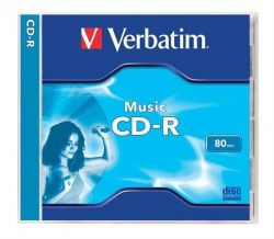 CD-R Audio 700MB, 16x, Verbatim Live it!, jewel box