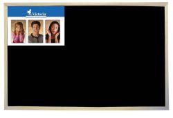 Černá tabule, nemagnetická, dřevěný rám, 60x90cm, VICTORIA
