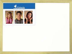 Bílá magnetická tabule, 60x90cm, dřevěný rám, VICTORIA