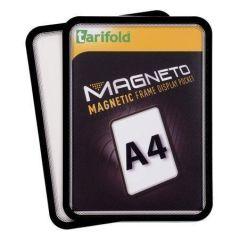 Prezentační kapsa Magneto, černá, magnetická, A4, TARIFOLD ,balení 2 ks