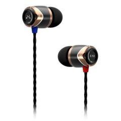 Sluchátka do uší E10, černo-zlatá, kov, SOUNDMAGIC