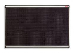 Černá pěnová tabule, hliníkový/plastový rám, 60x90, NOBO
